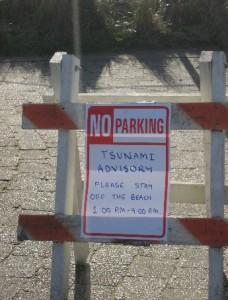 tsunami advisory sign oregon coast