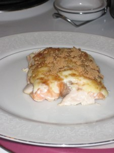 Baked Salmon Fillet Recipe with Mayonnaise and Brown Sugar